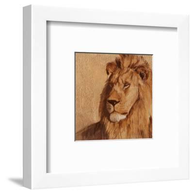 Lion-A. Vargas-Framed Art Print