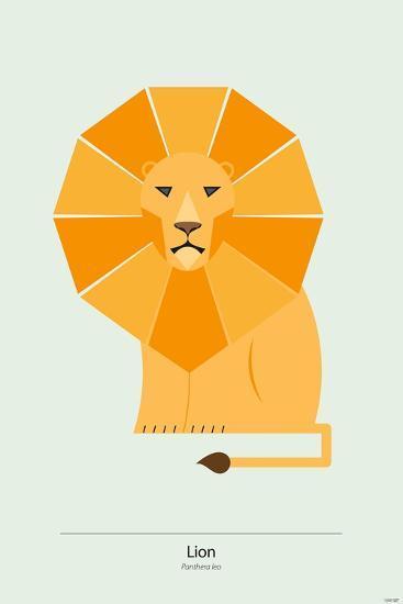 Lion-Tomas Design-Premium Giclee Print