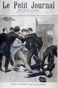 Assassination of a Policeman by an Anarchist, 1895 by Lionel Noel Royer