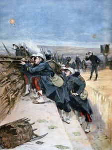 French Soldiers on Trench Warfare Manoeuvres, 1894 by Lionel Noel Royer