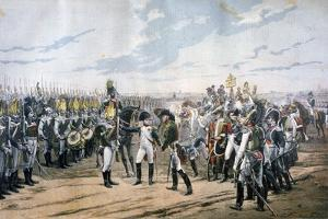 Napoleon at Tilsit, 1807 by Lionel Noel Royer