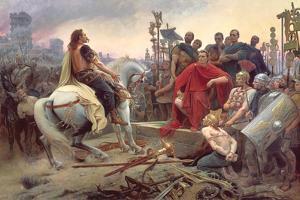 Vercingetorix Throws Down His Arms at the Feet of Julius Caesar, 1899 by Lionel Noel Royer