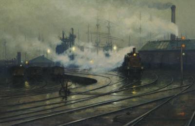 Les docks de Cardiff by Lionel Walden