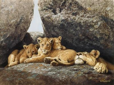 Lioness with Cubs-Harro Maass-Giclee Print