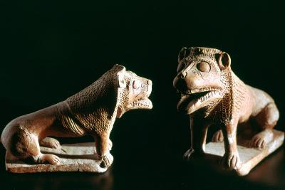 Lions, from Kerkouane, Tunisia, 3rd Century Bc--Photographic Print