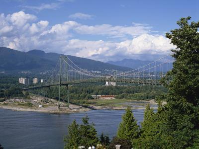 Lions Gate Bridge, Vancouver, British Columbia, Canada, North America-Harding Robert-Photographic Print