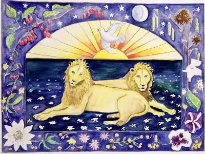 Lions (Month of December from a Calendar)-Vivika Alexander-Giclee Print