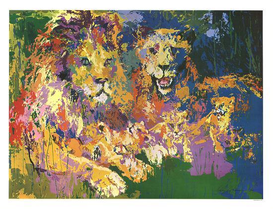 Lions Pride-LeRoy Neiman-Art Print