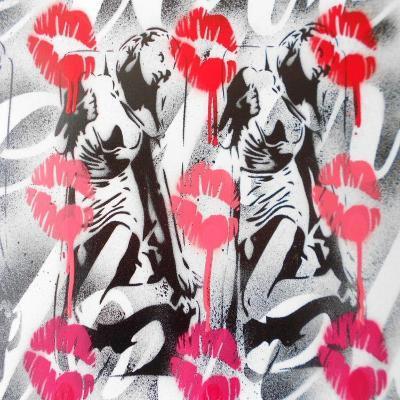 Lip Service-Abstract Graffiti-Giclee Print