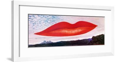 Lips (Heure de l'Observatoire)-Man Ray-Framed Art Print