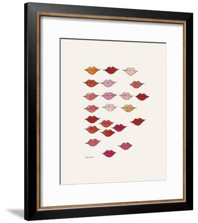 Lips-Andy Warhol-Framed Giclee Print