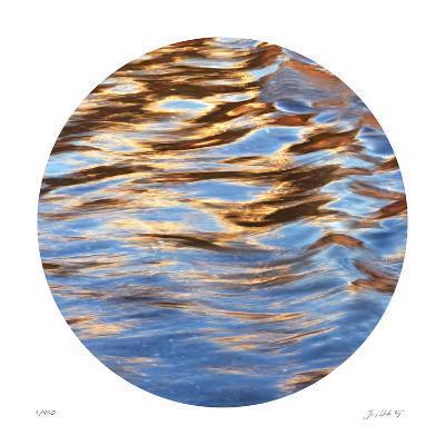 Liquid Gold Circle 2-Joy Doherty-Giclee Print