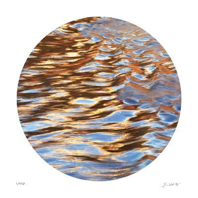 Liquid Gold Circle 3-Joy Doherty-Giclee Print