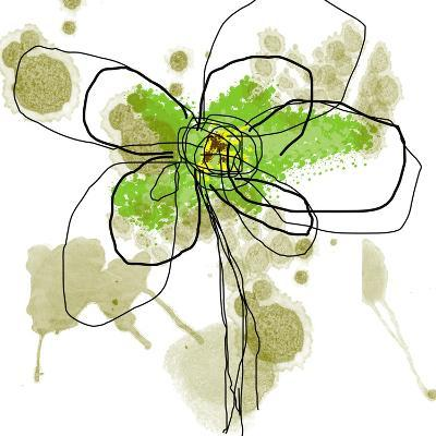 Liquid Green Flower-Jan Weiss-Art Print
