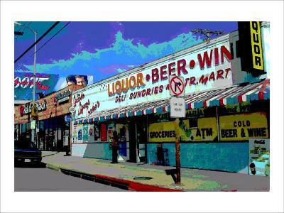 Liquor Beer Wine, Venice Beach, California-Steve Ash-Giclee Print