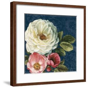 Floral Damask II on Indigo by Lisa Audit