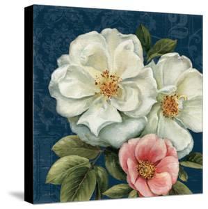 Floral Damask III on Indigo by Lisa Audit