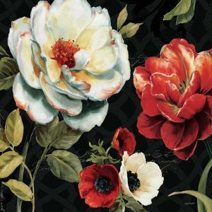 Floral Story IV on Black by Lisa Audit