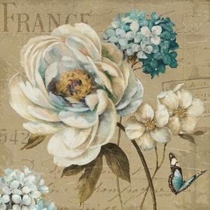 Marche de Fleurs Blue III by Lisa Audit
