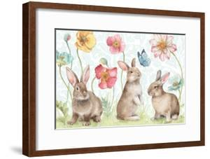 Spring Softies Bunnies I by Lisa Audit