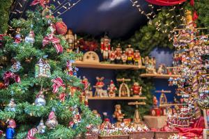 Christmas decorations and ornaments for sale, Rothenburg, Germany by Lisa Engelbrecht