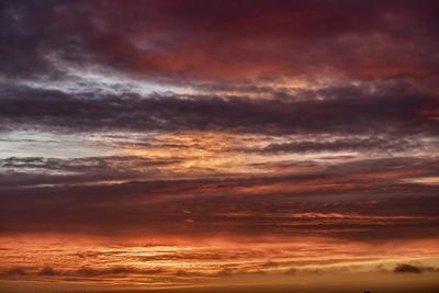 Colorful sunset, New Smyrna Beach, Florida, USA