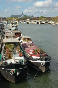 France, Paris, riverboats on Seine River by Lisa Engelbrecht