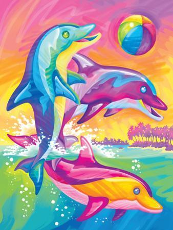 Brushstoke Dolphins by Lisa Frank