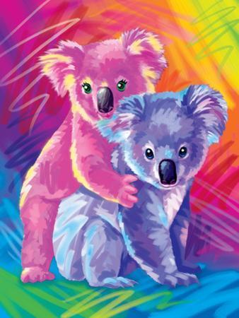 Brushstroke Koalas by Lisa Frank