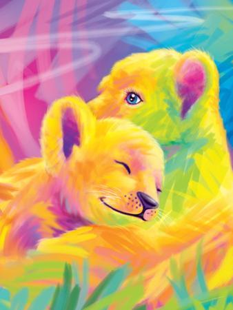 Brushstroke Lions by Lisa Frank