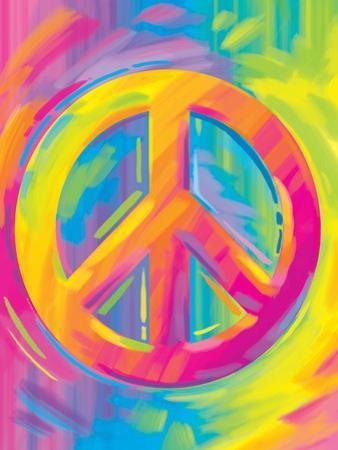 Brushstroke Peace by Lisa Frank