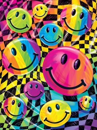 Brushstroke Smileys by Lisa Frank