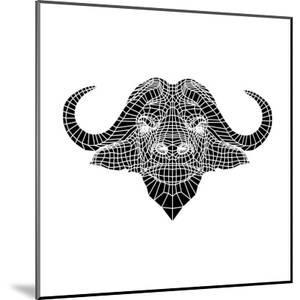 Black and White Buffalo Mesh by Lisa Kroll