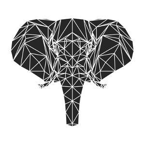 Black Elephant Polygon by Lisa Kroll