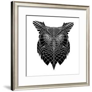Black Owl Head Mesh by Lisa Kroll