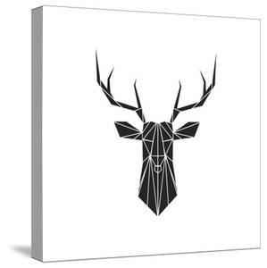 Black Polygon Deer by Lisa Kroll