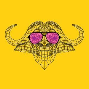 Buffalo in Pink Glasses by Lisa Kroll