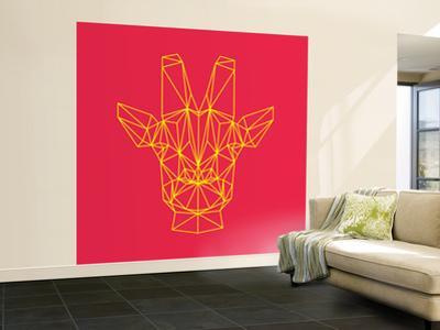 Giraffe on Red by Lisa Kroll