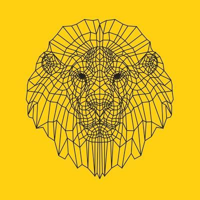 Lion Head Yellow Mesh