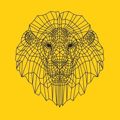 Lion Head Yellow Mesh by Lisa Kroll