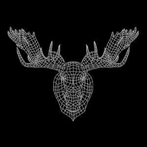 Moose Head Black Mesh by Lisa Kroll