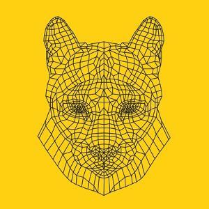 Mountain Lion Yellow Mesh by Lisa Kroll