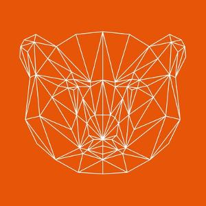 Orange Bear Polygon by Lisa Kroll