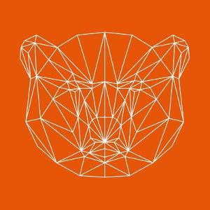 Orange Bear Polygon by Lisa Kroll
