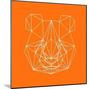 Panda on Orange by Lisa Kroll