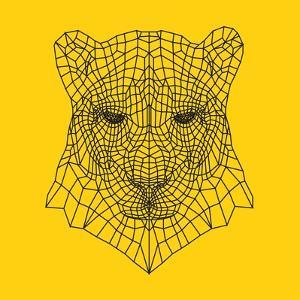 Panther Head Yellow Mesh by Lisa Kroll