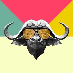 Party Buffalo in Glasses by Lisa Kroll