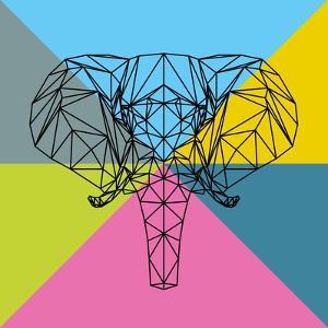 Party Elephant Polygon 2 by Lisa Kroll