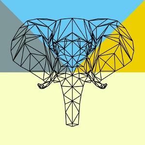 Party Elephant Polygon by Lisa Kroll