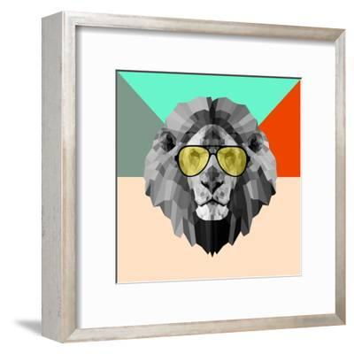 Party Lion in Glasses